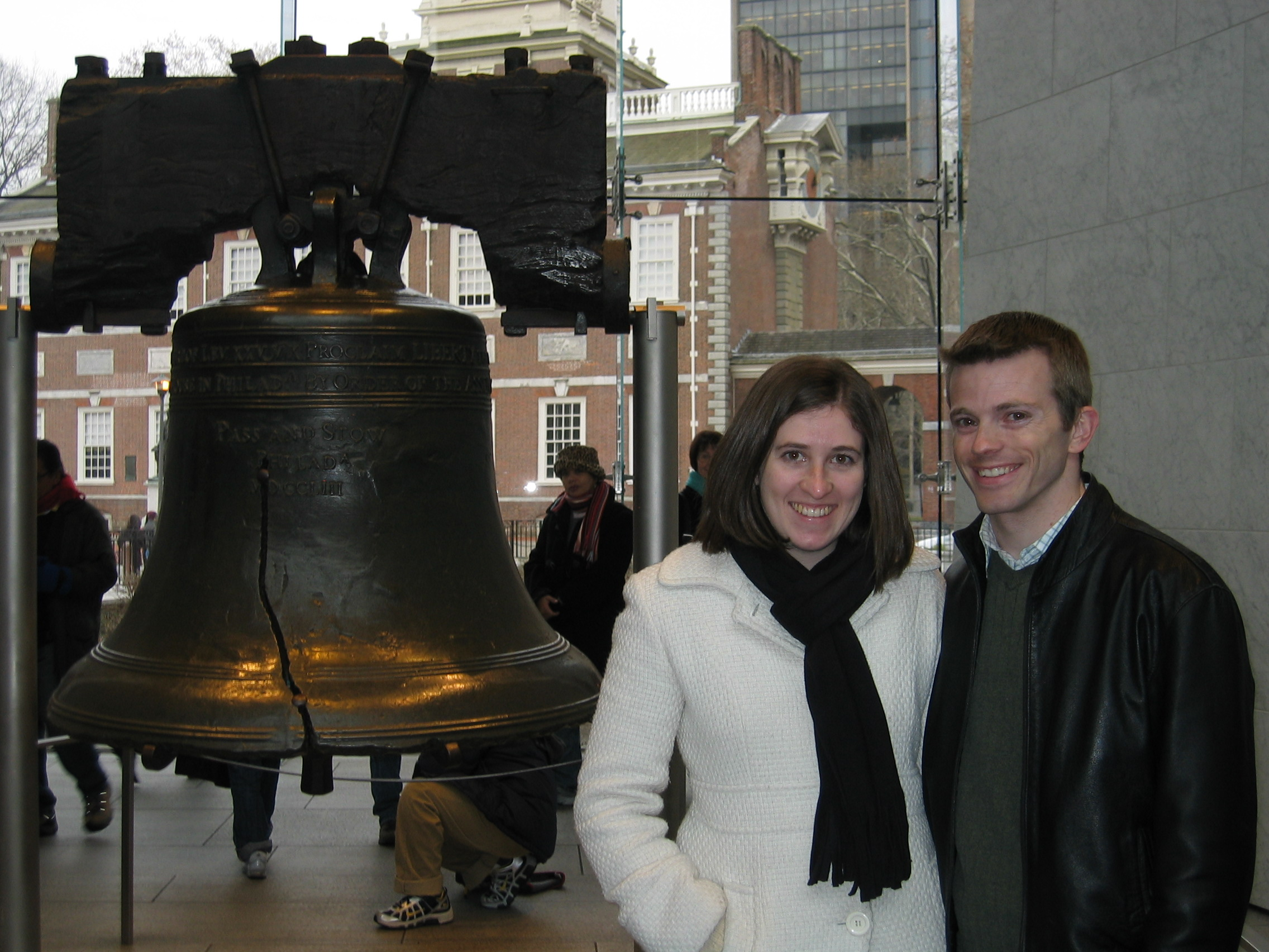 Jason and Kerry in front of the Liberty Bell